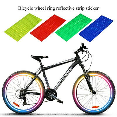 Reflective Stickers for Bicycle Adhesive Tape for Bike Safety Bike Access TBO