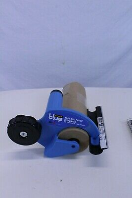 Portable Tape & Paper Dispenser with Partial Roll of Brown Paper Adjustable