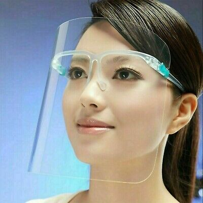 Full Face Shield Reusable Protection Cover Mask Safety Clear Glasses New