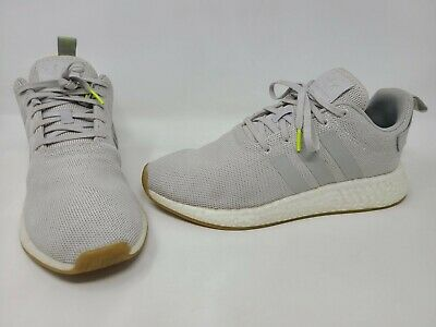Adidas Nmd R2 Grey White Gum Boost Running Sneakers Cq2403 Mens