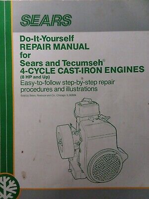 Tecumseh 3 To 11 Hp Engine Service Manual Lawn Mower Tiller Snow Thrower Tractor 49 46 Picclick Uk