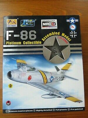New 1//72 WWII US Air Force F2A//M339 Fighter Aircraft 3D Assembled Plastic Model