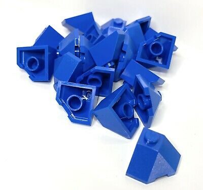 Lego Lot of 25 New Blue Wedge 2 x 2 Slope 45 Corner Sloped Pieces Parts