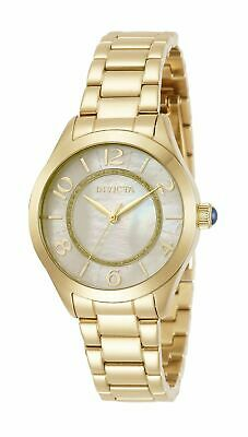 Brand New Invicta Angel 31104 Gold Stainless Steel Mother Of Pearl Women's Watch