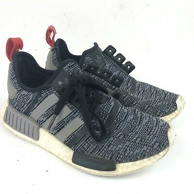 Adidas Nmd R1 Mens Glitch Camo Core Black White Grey Boost Running