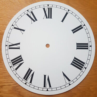 NEW - 9 Inch Clock Dial Face - White - 230mm Roman Numerals - DL26