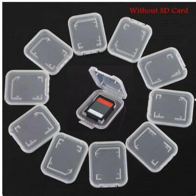 TF Micro SD SDHC Memory Card Cases Holder Transparent Protective Storages Box UK