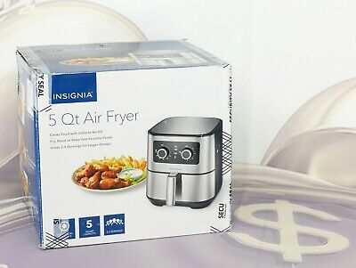 Insignia 5 QT Analog Air Fryer Stainless Steel NS-AF53MSS0 New