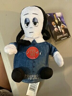 "2019 The Addams Family Pugsley 6/"" Singing Squeezer Plush Toy Doll Theme Song"