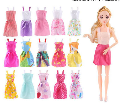 10 Pcs Party Wedding Gown Dresses Clothes 10 Pairs Shoes For Barbie Doll
