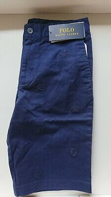 Boys Ralph Lauren Navy Blue Shorts With Ralph Embroidery Size 3 Years