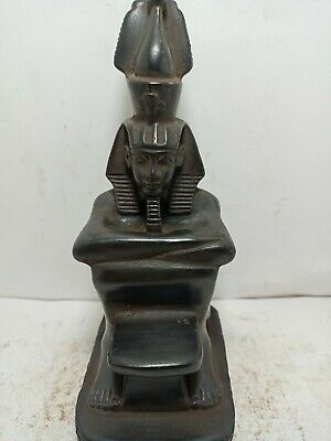 RARE ANTIQUE ANCIENT EGYPTIAN Statue King Ramses Legend of Ruler 1270-1235 Bc