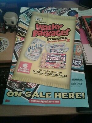Topps Wacky Packages Stickers All New Series 2 Sell Sheet