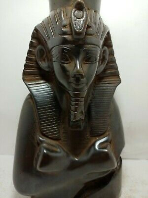 RARE ANTIQUE ANCIENT EGYPTIAN Statue King Ramses Head Snack Protect 1285-1275 Bc