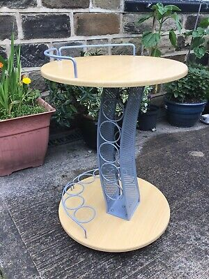 Circular Drinks Trolley / Table With Wine Rack