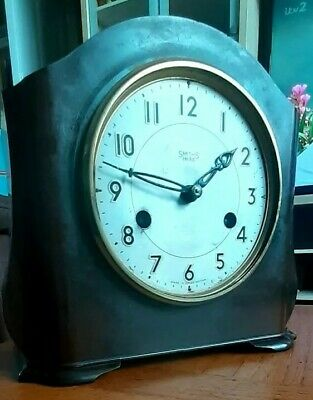Art Deco Smiths  Bakelite Cased Mantel Clock Need Love and attention