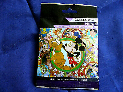 Disney * BEST FRIENDS * New & Sealed * 5-pin Collectible Mystery Pin Pack