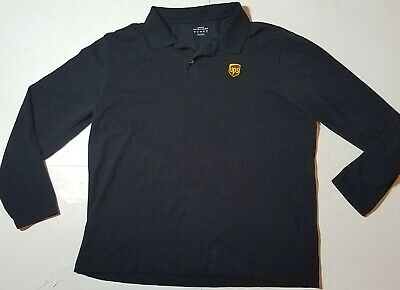 UPS Men/'s Polo Shirt XL Maroon Employee Uniform WORK Short Sleeve United Parcel