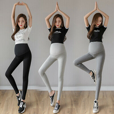 Maternity Pregnancy Slim Skinny Leggings Over The Belly Soft Stretch Yoga Pants