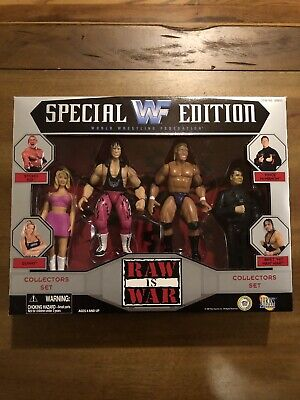 Wwf Wwe Jakks Raw Is War Box Set Bca Figure 4 Pack Bret Hitman Hart Mattel Elite 75 00 Picclick