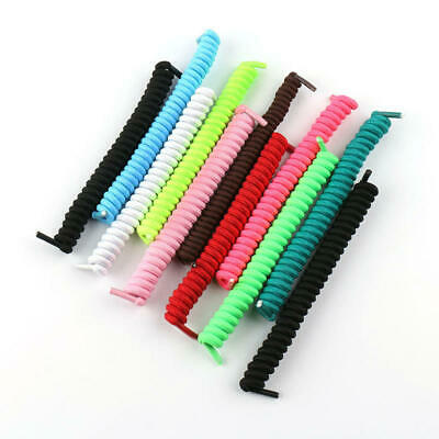 1 Pairs Universal Curly Elastic No Tie Shoe Laces Loosened/Tightened Shoelaces