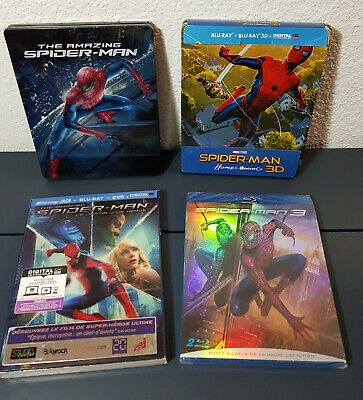 Lot 4 Bluray_Spider-Man / Homecoming 3D / Destin d'un Héro 3D / Amazing / S-M 3