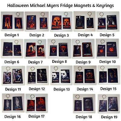 Michael Myers Halloween Fridge Magnets & Keyrings Keychains Key Ring Key Chain