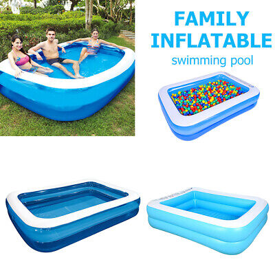 Large Family Swimming Pool Outdoor Garden Summer Kids Inflatable Paddling Pool