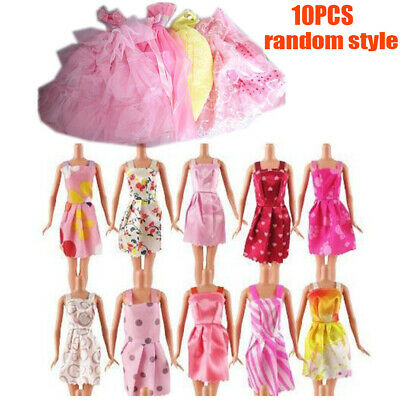 10pcs Barbie Doll Dresses Clothes Kids Gifts Girls Toy Play