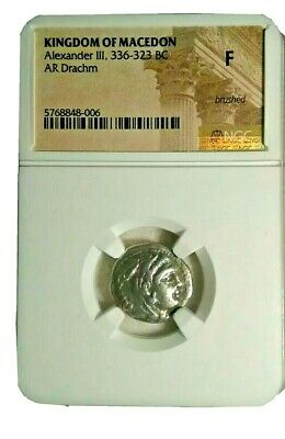 Alexander the GREAT III, LIFETIME ISSUE! Drachm Ancient Greek Silver Coin, NGC