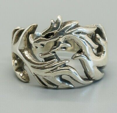 Dragon Head Game of Thrones Ring 925 silver Metal Biker Gothic feeanddave