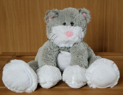 Intelex Warmies. Lovely plush grey cat. Heat in microwave. Great condition