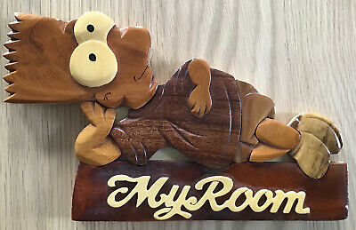 NEW Handmade Wooden Bart Simpson My Room Sign