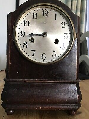Hac Mantle Clock, Made In Wurttenburg,front Glass Missing And One Hand