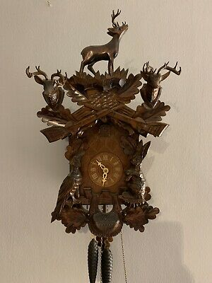 Black Forest 1 Day Stag Cuckoo Clock, Stunning Clock!!
