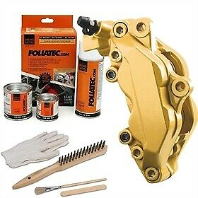 Heat Resistant Brake Calliper Paint Kit For All Car & Motorcycle Models Gold Met