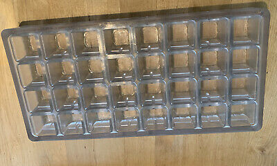 Professional polycarbonate deep square 32 cavity chocolate mould