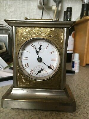 Antique Junghans Joker Carriage Clock with Music Box Alarm For Restoration