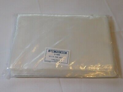 Uline Poly bags S-1008 10 X 14 Qty 100 bags 2 Mil Clear bags Open Top New