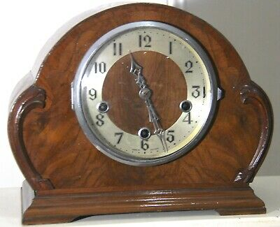 Art Deco 8 Day Enfield England Westminster Chiming Pendulum Swinging Clock