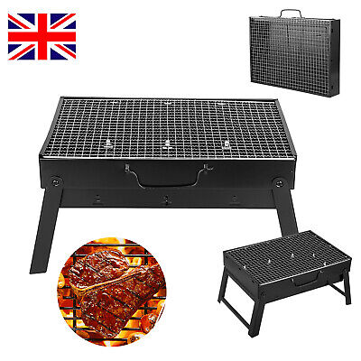 TRAVEL CAMPING BBQ Portable Suitcase Barbecue Steel Grill