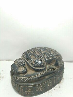 RARE ANTIQUE ANCIENT EGYPTIAN Scarab Good Luck Magic Writing Hiroglyphic 1635 Bc