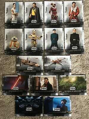 x15 Star Wars: Rise of Skywalker Topps trading cards