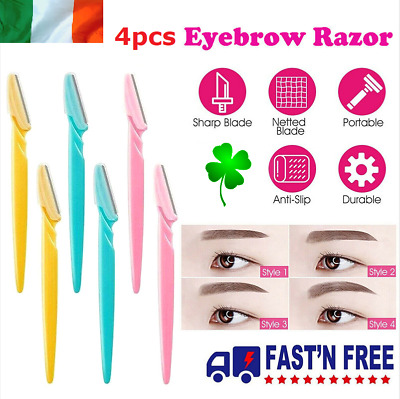 4pcs Eyebrow Razor Dermaplaning Painless Facial Shaper Tool Hair Remover