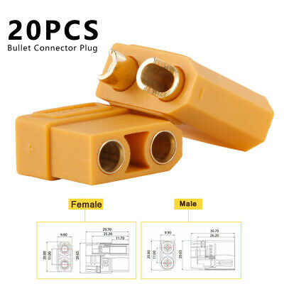 10 Pairs XT90 Bullet Connector Plug Male Female Protective Cover RC Lipo Battery