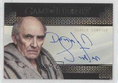 Game of Thrones Inflexions Valyrian Autograph Card Donald Sumpter Maester Luwin