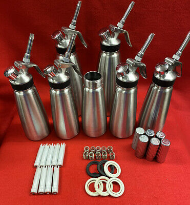 Whipped Cream Dispensers (Lot Of 6) Chef Master Professional - Stainless Steel