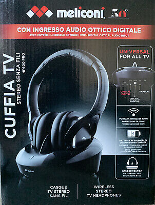 CUFFIA TV WIRELESS Meliconi HP600 Pro EUR 39,00 | PicClick IT