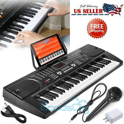 61 Key Digital Music Piano Keyboard -Portable Electronic Musical Instrument &Mic