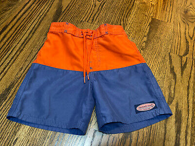 NWT Vineyard Vines Boys Swimwear Pieced Fish At Sea Lighthouse Red Shorts Size 6